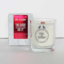 The Cider Made Me Do It Candle by Coal and Canary