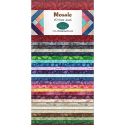 "Mosaic 40 Karat Jewels by Wilmington Batiks - 2.5"" Strips (Jelly Roll)"