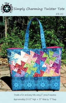 Simply Charming Twister Tote by Around The Bobbin Designs