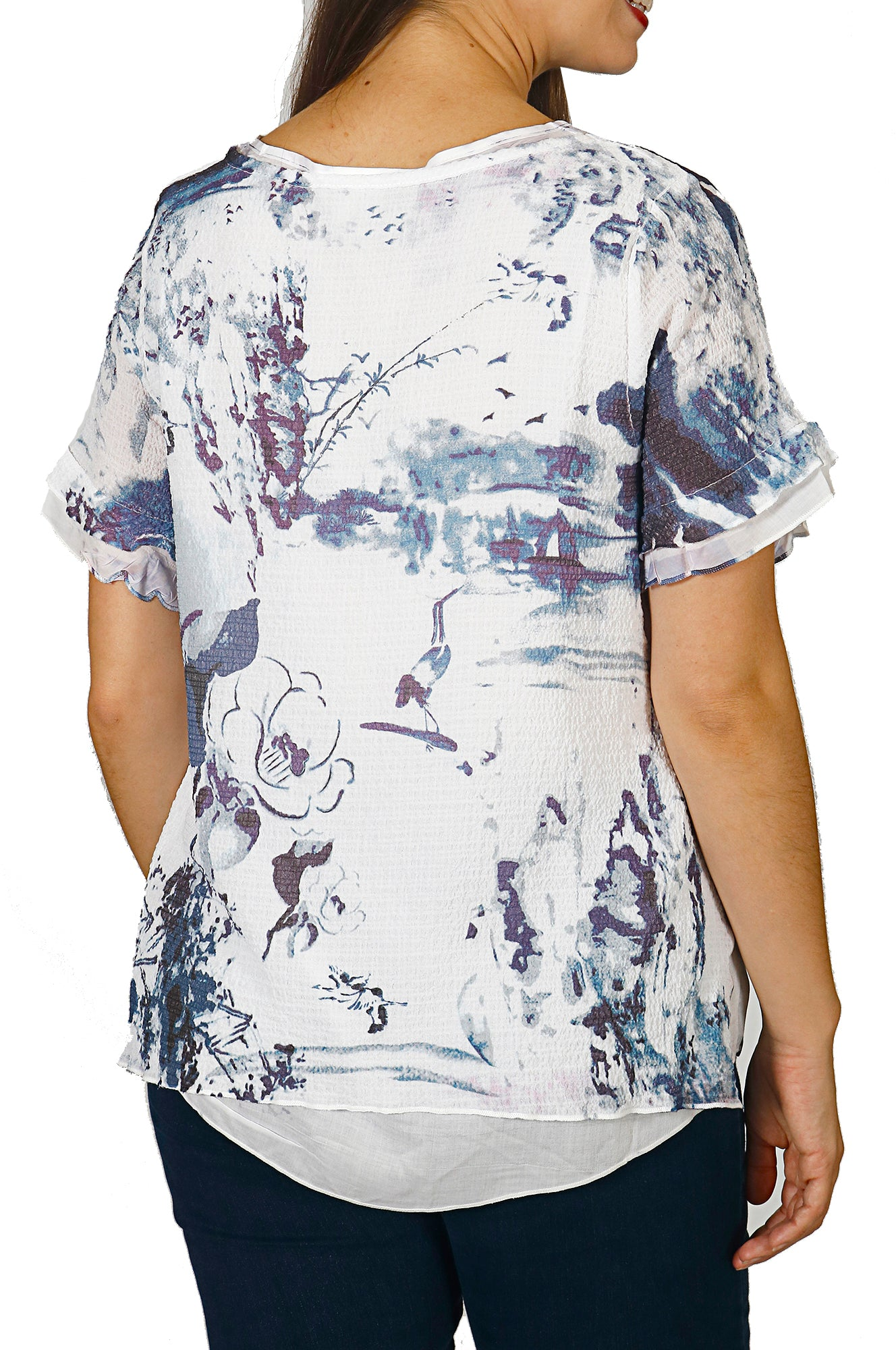Impulse California Women's 2-layer Printed Top
