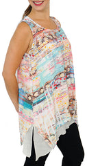 Impulse California Women's Two-Layer Tank Top Tunic