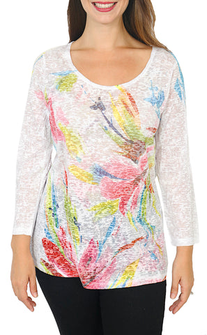 Impulse California Women's Pastel Floral Top