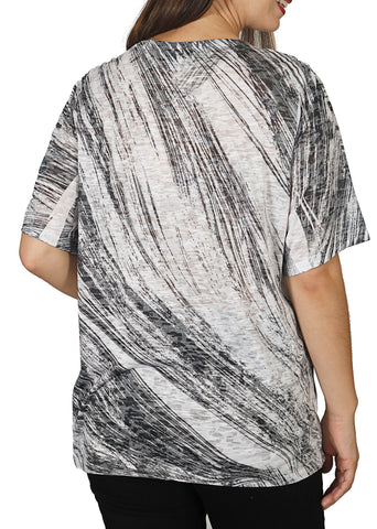 Impulse California Women's Elbow Sleeve V-Neck