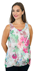 Impulse California Women's Multilayer Tank Top Tunic