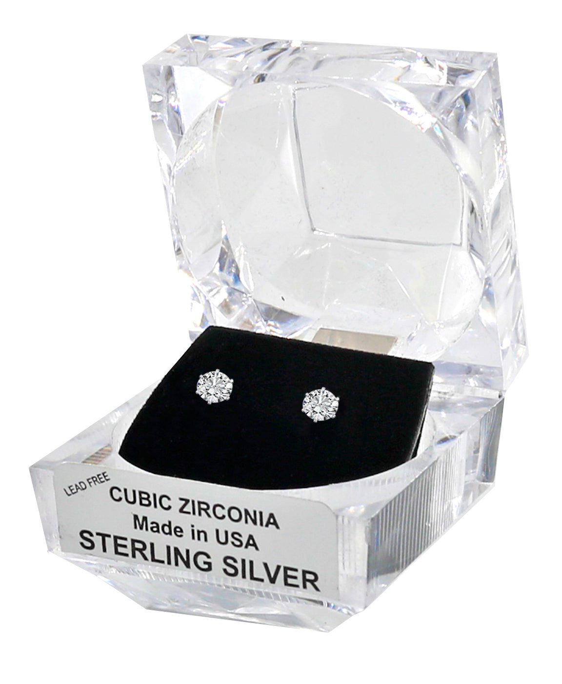 c877a4c15578 Sterling Silver Cubic Zirconia Earrings with Crystal Gift Box – TrueSlim  Jeans