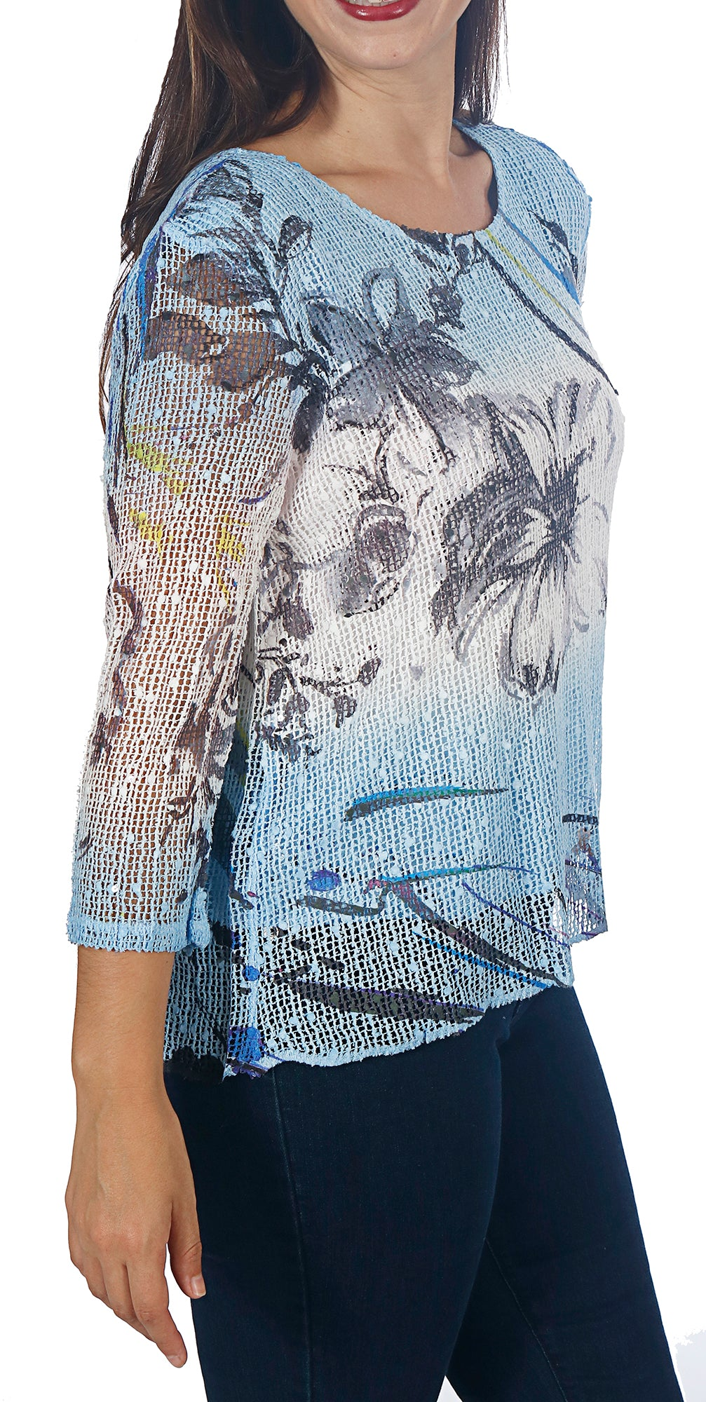 Impulse California Women's Two Tone Print Mesh