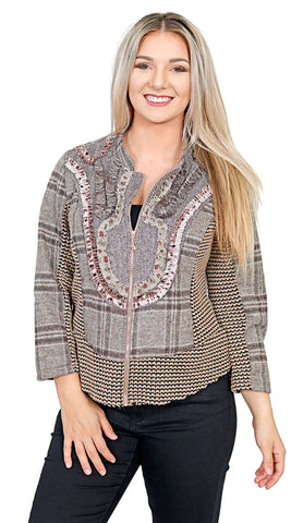 Impulse California Women's Knitted Patches Jacket