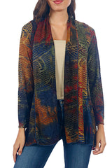 Impulse California Women's Long Sleeve Chenille Cardigan