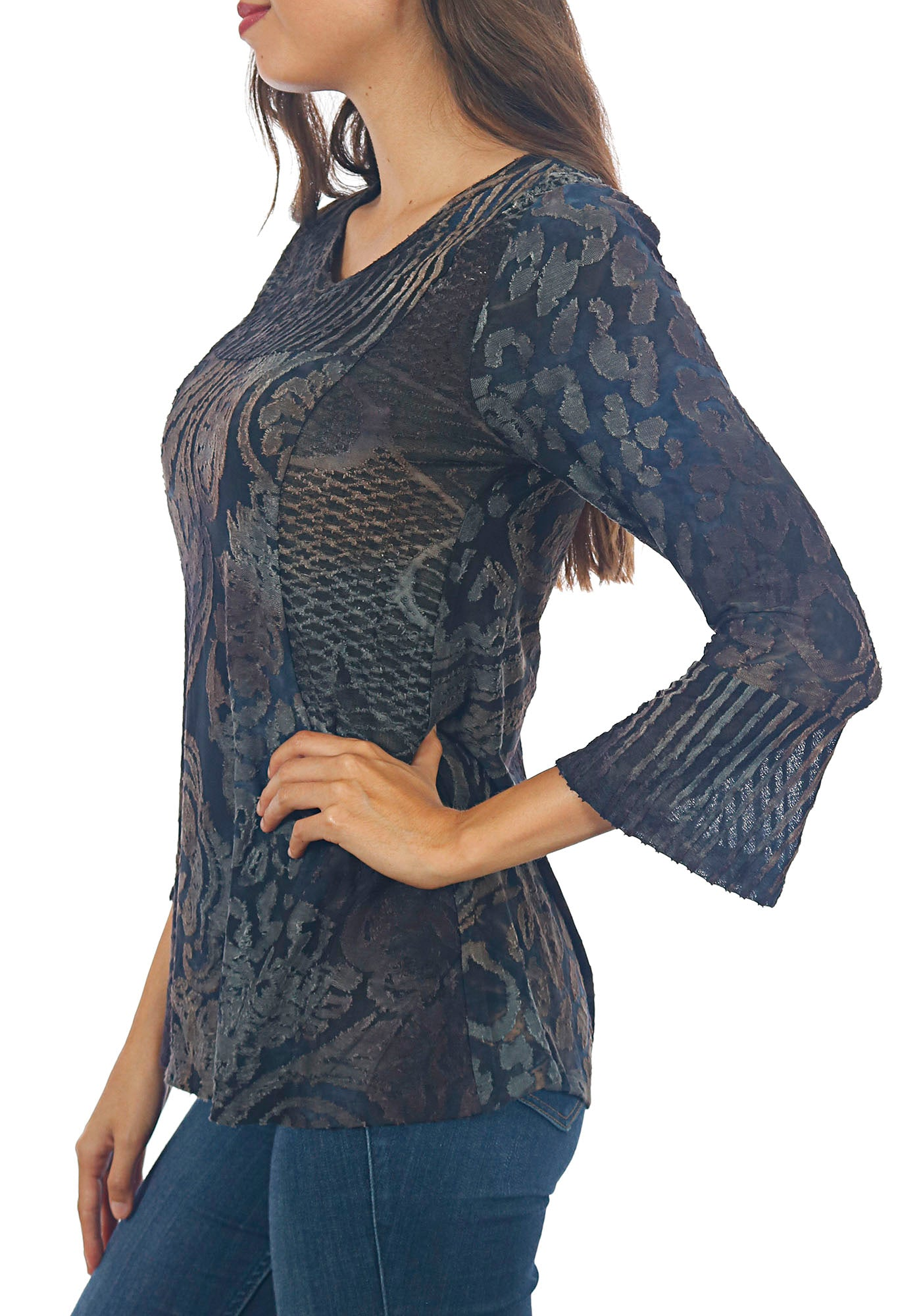 Impulse California Women's Patchwork Chenille Tunic