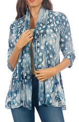 Impulse California Women's Blue Gradient Cardigan