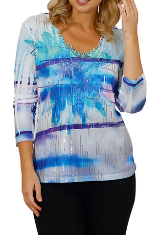 Impulse California Sequin Top with Neck Lace