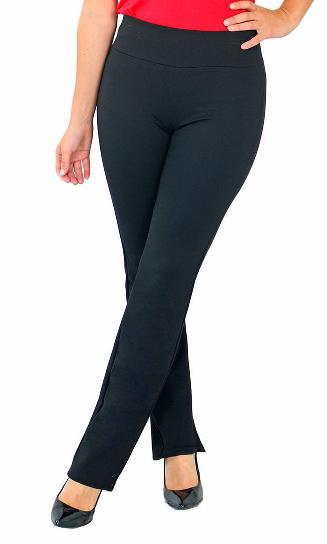 TrueSlim™ Black Ponte Leggings For women