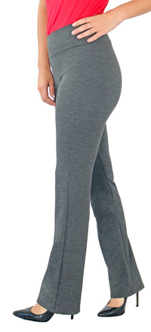 TrueSlim™ Gray Ponte Leggings for women