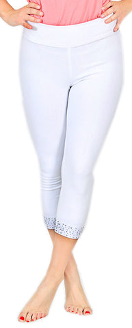 TrueSlim™ White Capri Leggings For Women
