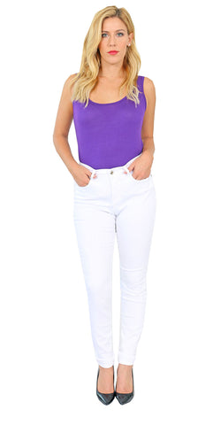 TrueSlim™ White Satin Twill Skinny Jeggings for women