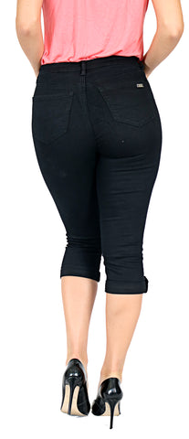 TrueSlim™ Tab and Stone Capri Black