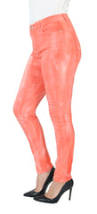 TrueSlim™ Textured Dye Women Jeggings Coral