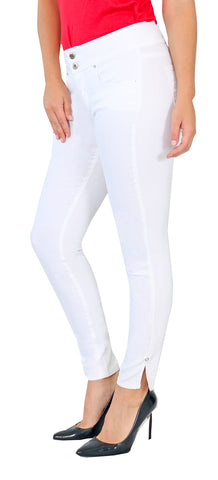 TrueSlim™ Women's Two Button Jeggings White
