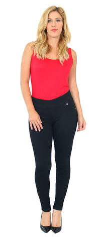 TrueSlim™ Black Rayon Pull On Jeggings