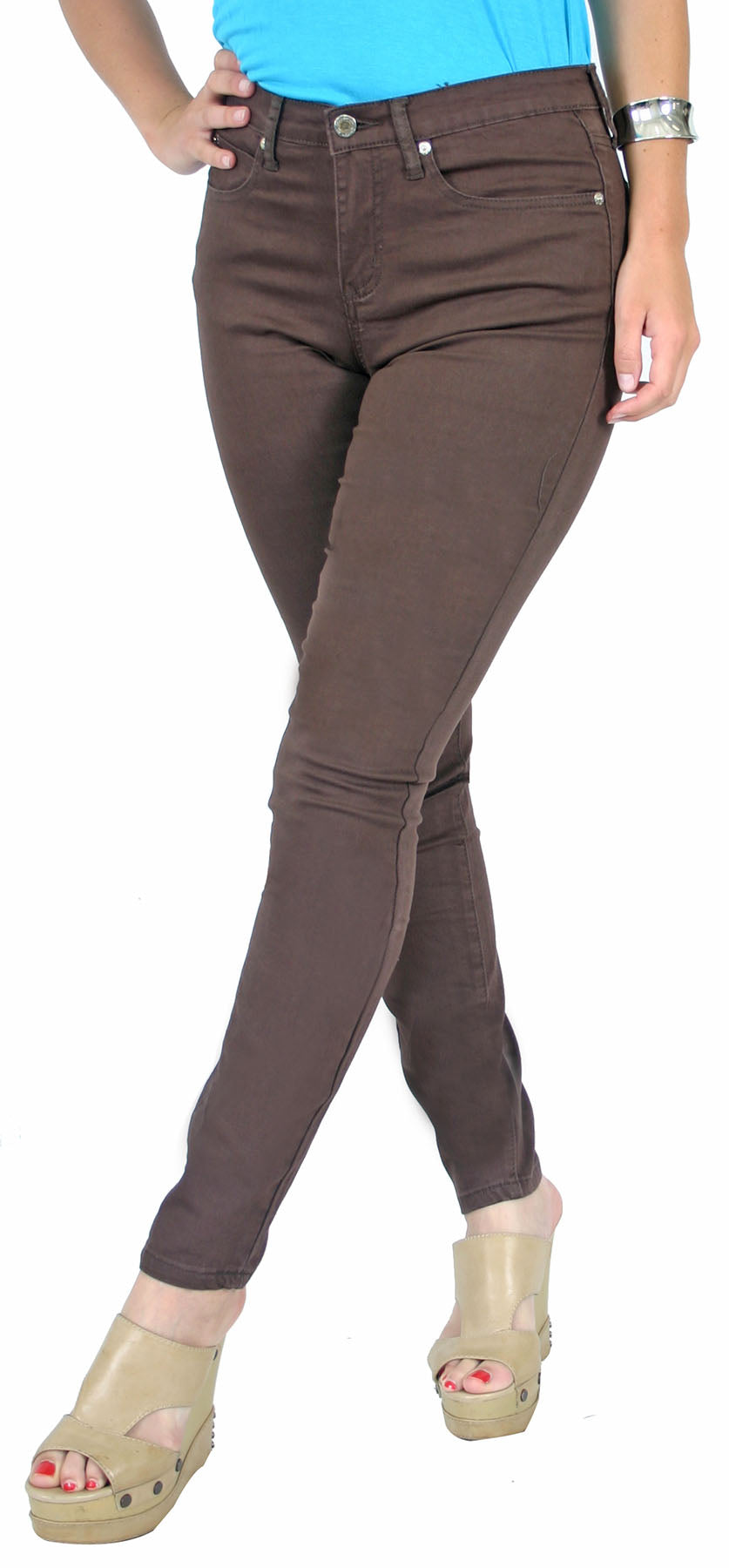 True Slim™ Brown Satin Twill Skinny Women's Jeggings