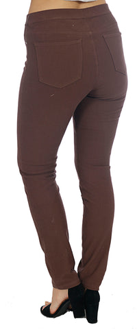 TrueSlim™ Brown French Terry Leggings