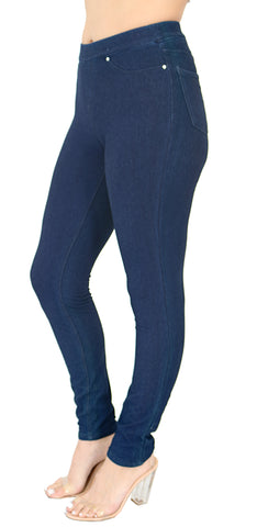 TrueSlim™ Indigo French Terry Leggings