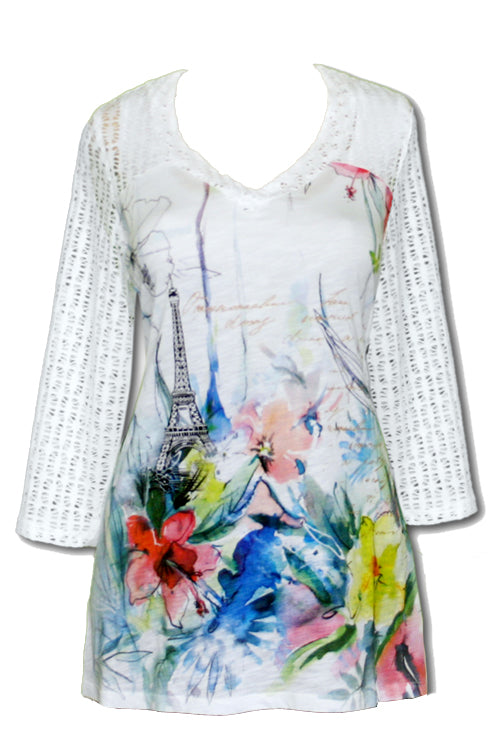 Impulse California Women's Spring in Paris Tunic