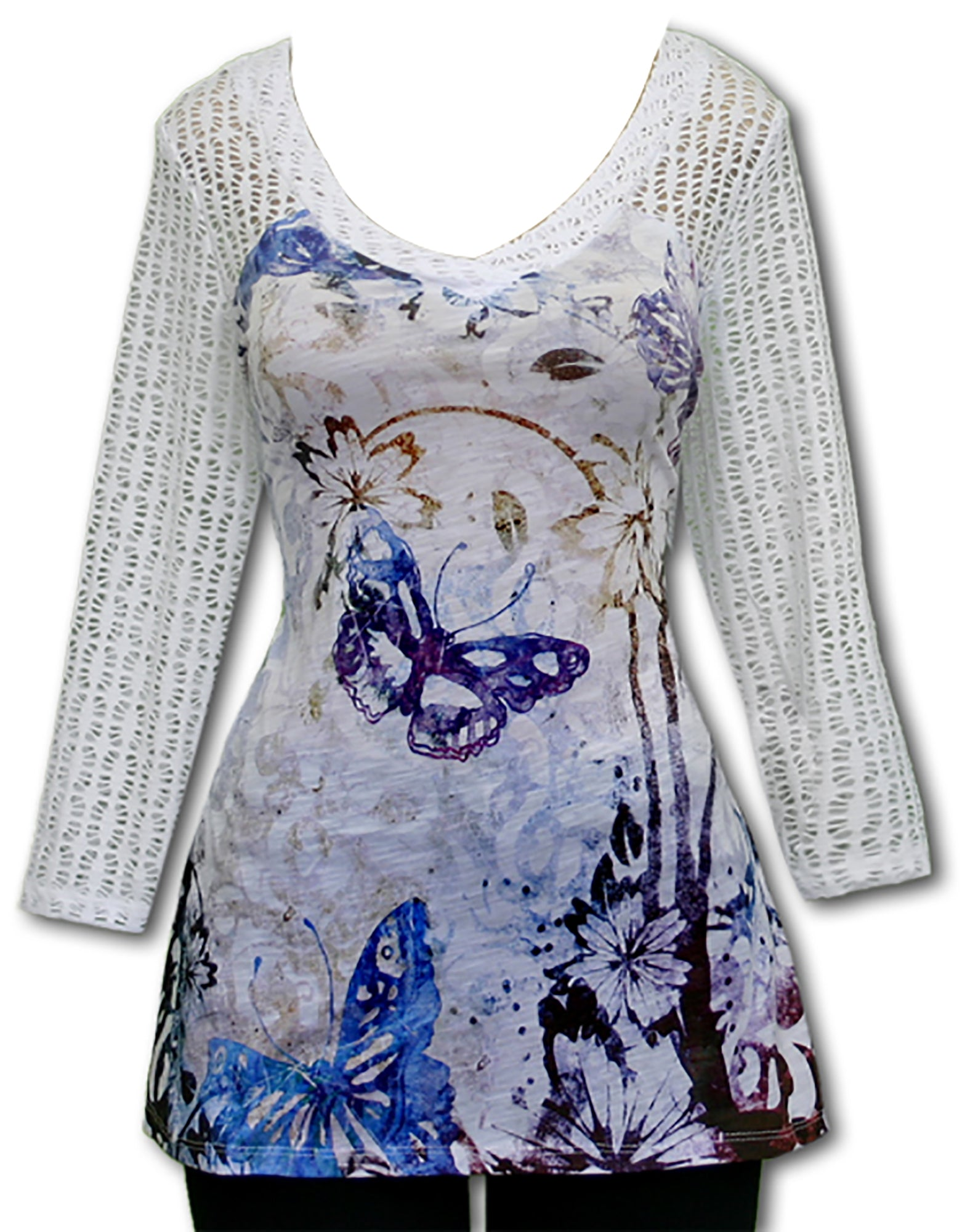 Impulse California Women's Spirited Butterflies Tunic