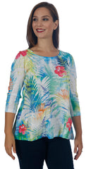 Women's Raglan Sleeve Tunic with Patch Pocket - Petite