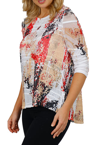 Impulse California Chiffon Textured Tunic