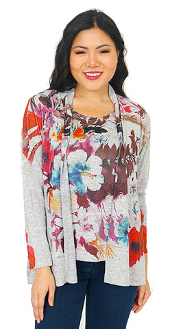 Impulse California Women's Cardigan and Matching Tank Top Set