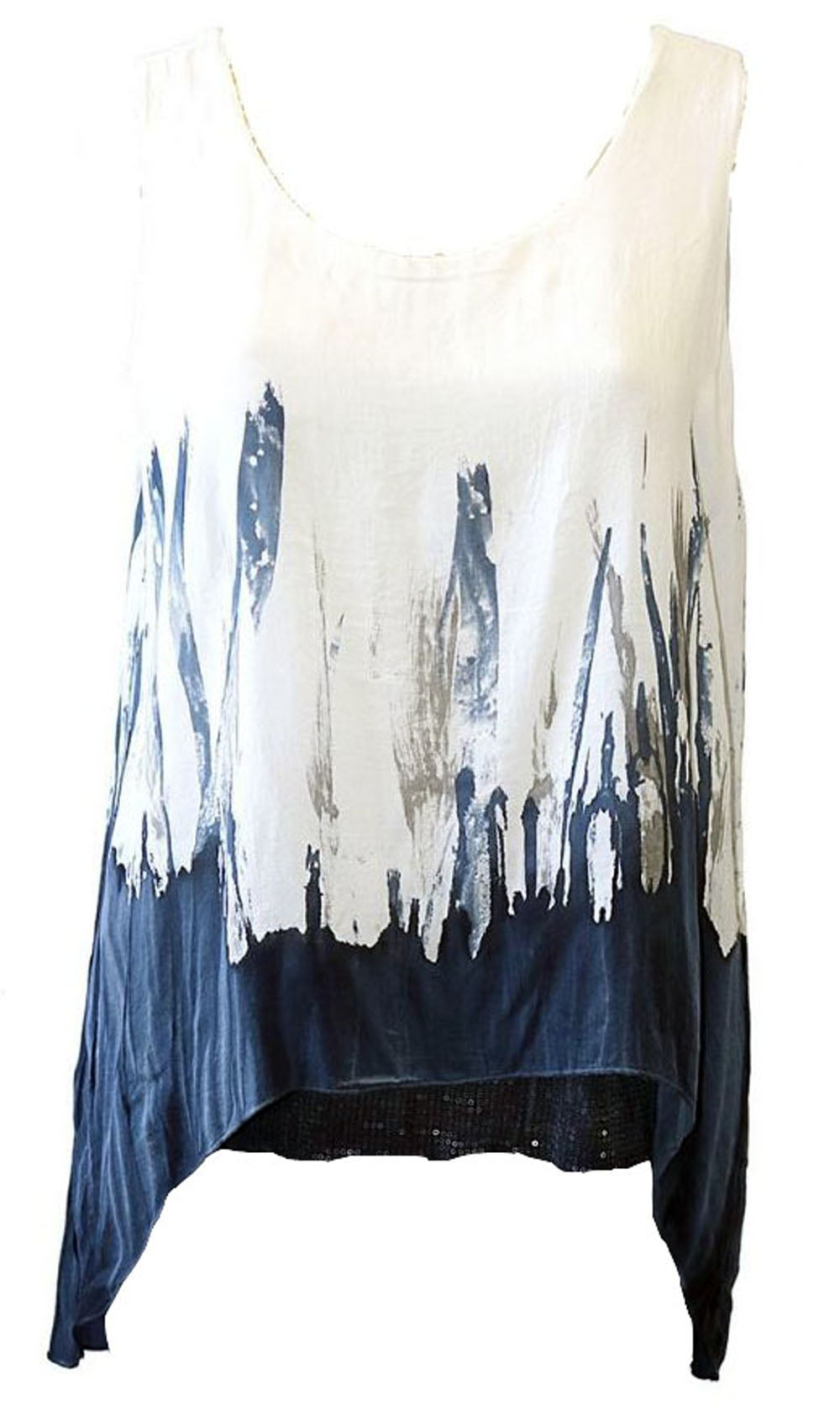 Impulse California Women's Sleeveless Navy Dyed Tunic