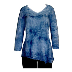 Impulse California Women's Sapphire Embroidered Tunic