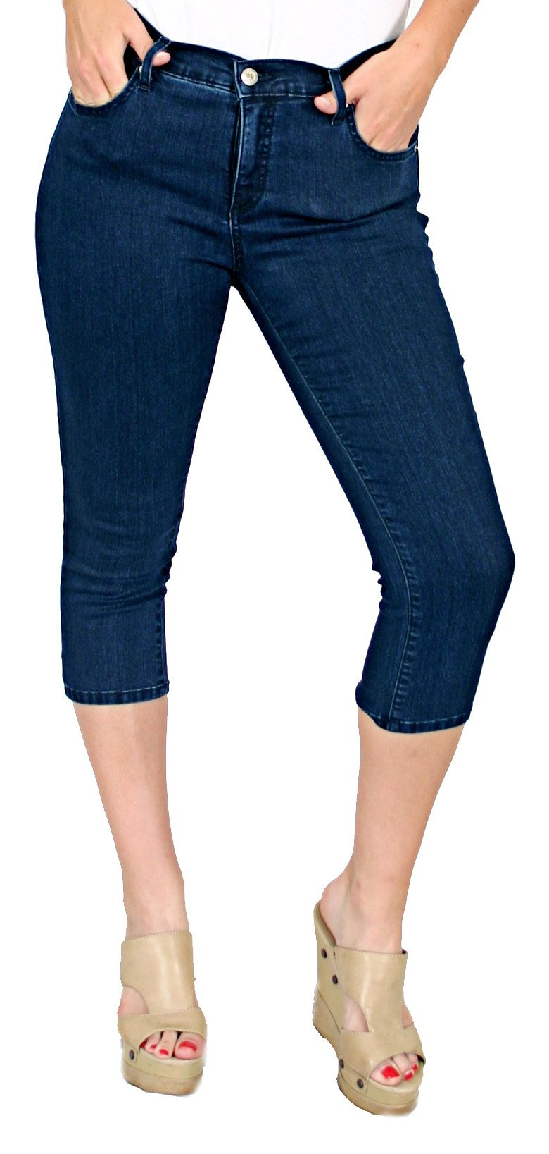 TrueSlim™ Denim Basic Capri