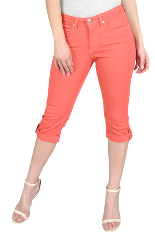 TrueSlim™ Coral Capri with Stone Trim