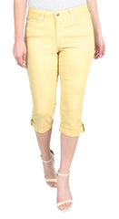 TrueSlim™ Mango Capri with Stone Trim