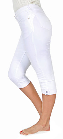 TrueSlim™ White Tab and Stone Capri
