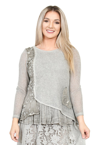 Impulse California Women's Beige Knitted Thin Sweater