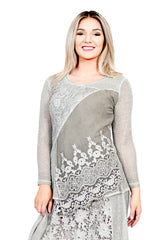 Impulse California Women's Crochet Patchwork Sweater