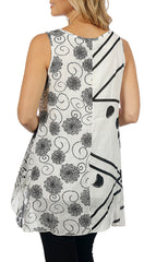 Impulse California Women's Sleeveless Floral Tunic