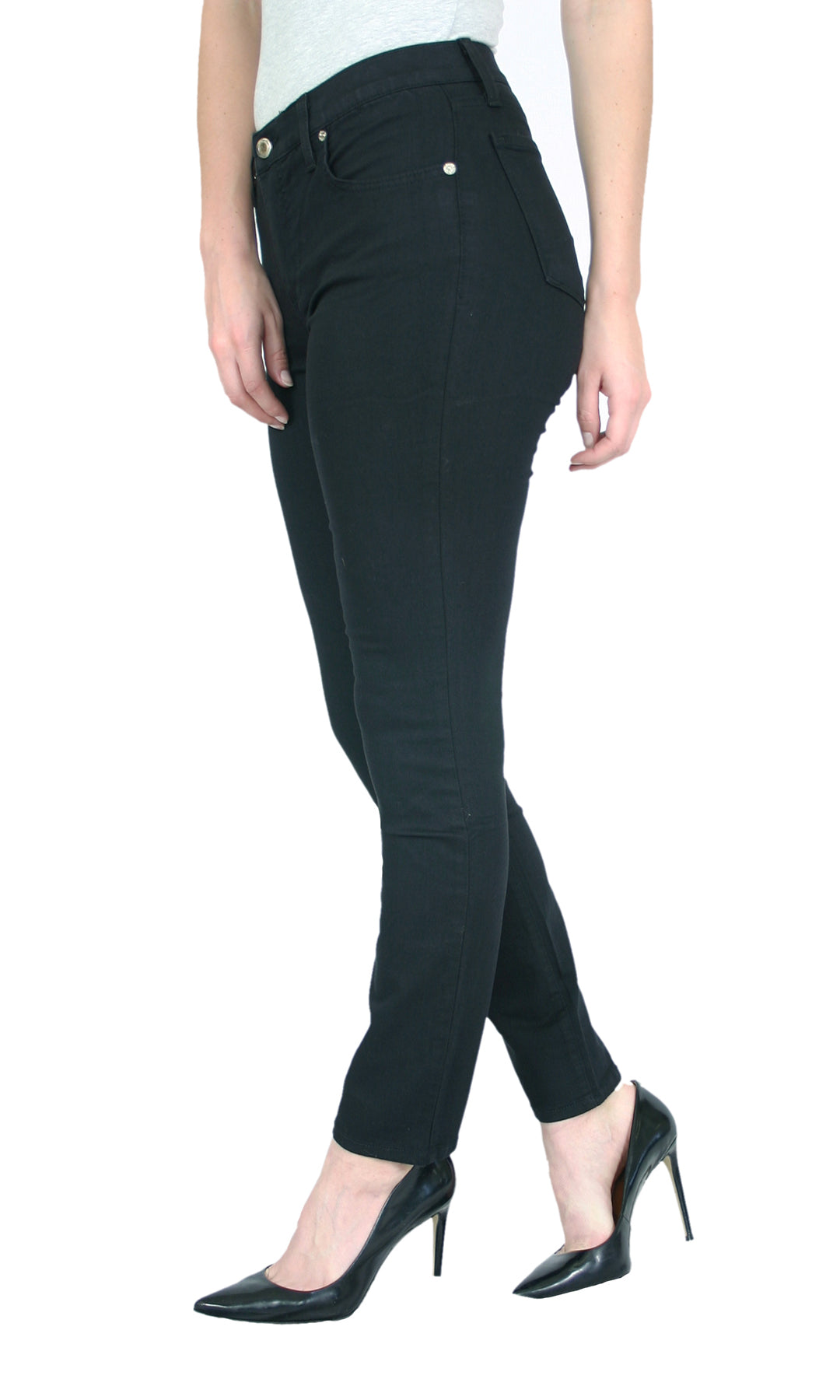 TrueSlim™ Black Satin Twill Skinny Women Jeggings