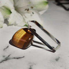 Tiger's Eye and Clear Quartz Power Duo