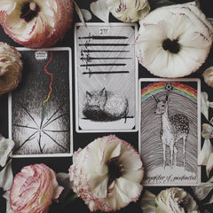 Fire signs Eight of Wands, Seven of Swords, Page of Coins