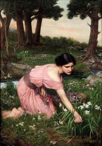 John William Water House Persephone Spring Spreads One Green Lap of Flowers