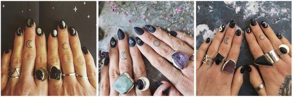 Witchy Nail art designs