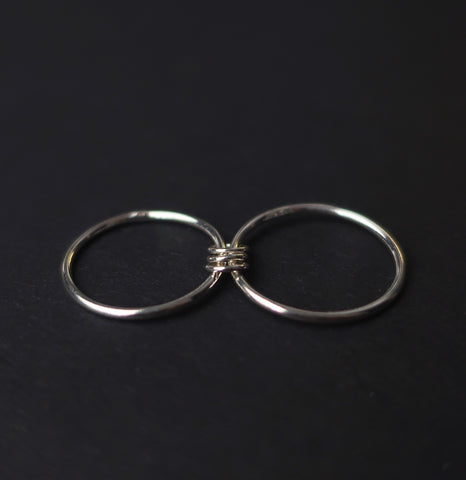 Light Bondage Ring in Sterling Silver