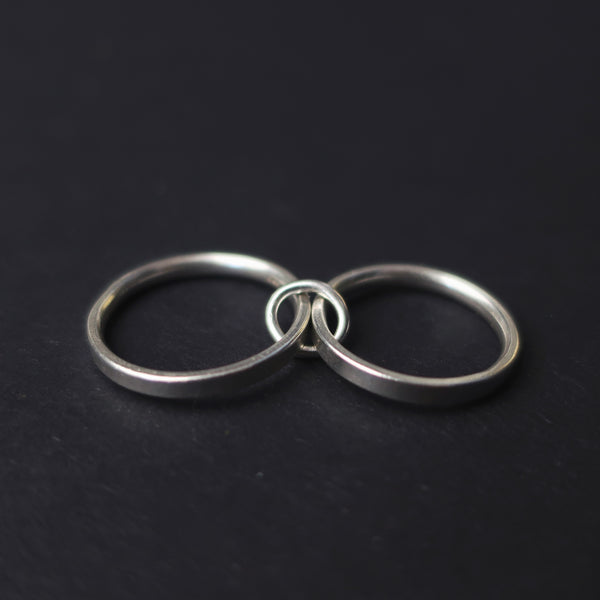 The Bonearrow Sterling Silver Heavy Bondage Ring