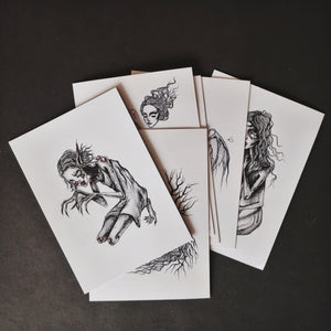 Little Ghouls Bonearrow illustrations prints