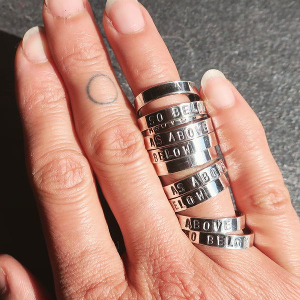 The Enchantress Personalised Stacking Ring