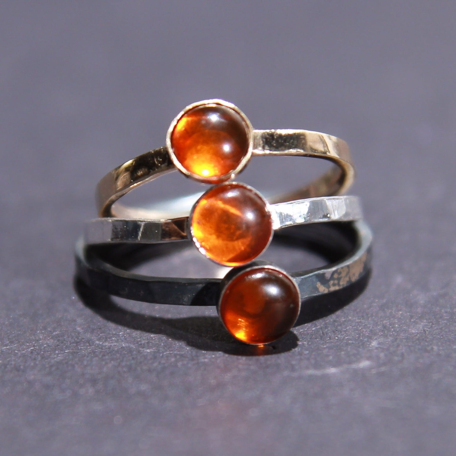 Satellite Ring in Amber